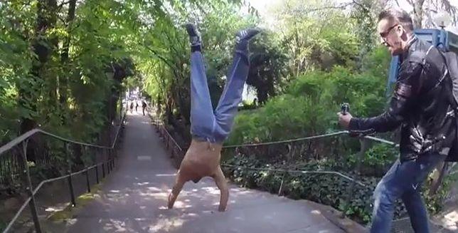 Imponujący wyczyn akrobaty