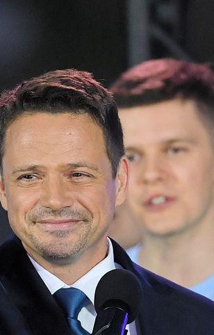 Rafał Trzaskowski w wieczór wyborczy wolał być w gronie bliskich