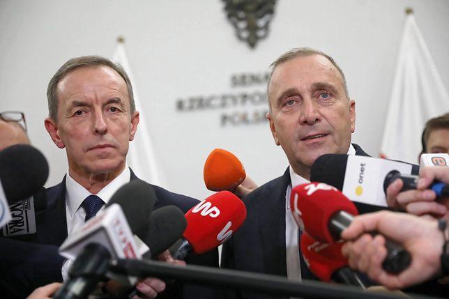 Grzegorz Schetyna skomentował większość w Senacie i wybór Tomasza Grodzkiego na marszałka