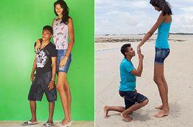 Elisany da Cruz Silva to najwyższa panna młoda. Mąż jest niższy o 40 cm