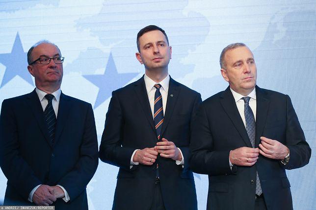 Wyniki wyborów 2019. Od lewej: Włodzimierz Czarzasty (SLD), Władysław Kosiniak-Kamysz (PSL), Grzegorz Schetyna (PO) - zdj. arch.