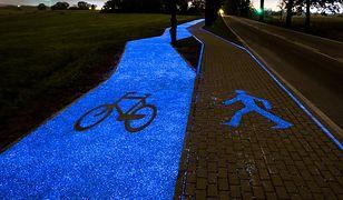 Pierwsza w Polsce świecąca ścieżka rowerowa powstała pod Lidzbarkiem Warmińskim