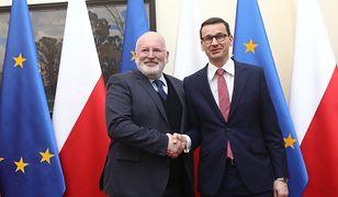 Komisarz Timmermans podczas spotkania z premierem Morawieckim w Warszawie