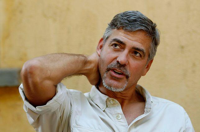 George Clooney podczas wizyty w Dżubie, stolicy Sudanu Południowego