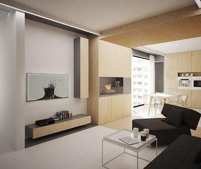 """Wnętrze """"Pod Kreskę"""", czyli połączenie dwóch mieszkań"""
