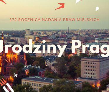 Plakat promujący urodziny Pragi