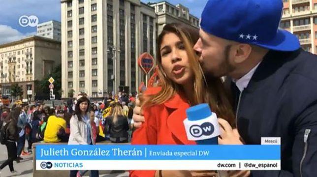 Reporterka DW: kibic wykorzystał moment, kiedy weszliśmy z relacją na żywo