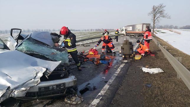 Wypadek na DK 22 w okolicach Elbląga