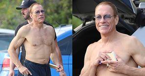 59-letni Jean-Claude Van Damme eksponuje muskularny tors, paląc podejrzanie wyglądającego skręta na plaży (ZDJĘCIA)