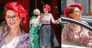 Gorąca jak lato w mieście Maja Rutkowski skacze po ulicy i prezentuje nową, ognistą fryzurkę (ZDJĘCIA)