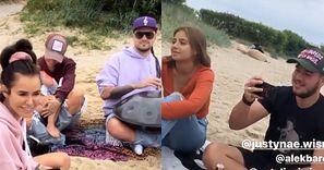 Natalia Siwiec w towarzystwie męża, córki i Blanki Lipińskiej rozpływa się nad muzycznymi umiejętnościami Barusia na Półwyspie Helskim