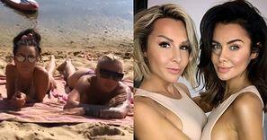 Muśnięte słońcem Blanka Lipińska i Natalia Siwiec prawią o RYTMIE DNIA, wylegując się wspólnie na piasku