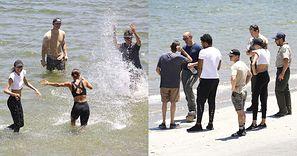 Rodzina Nayi Rivery pluska się w jeziorze, w którym zaginęła aktorka... (ZDJĘCIA)