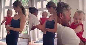 """Joanna Krupa chwali się spotkaniem stęsknionego męża z roześmianą Ashą-Leigh: """"Przywitanie taty w Polsce"""""""