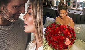"""Zakochany Radosław Majdan obsypuje kwiatami ciężarną Małgosię Rozenek: """"Bo teraz serca masz dwa"""" (FOTO)"""
