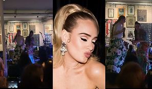 Wyluzowana Adele śpiewa i tańczy na weselu swojej najlepszej przyjaciółki w londyńskim pubie (WIDEO)