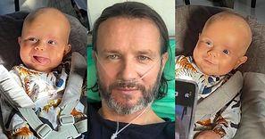 """Schorowany Radosław Majdan umila sobie czas na oddziale, przeglądając fotki Henia: """"Tatuś poprosił o kilka zdjęć"""" (ZDJĘCIA)"""