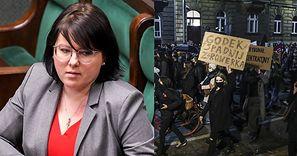 """Kaja Godek żali się na Facebooku, że """"lewaccy bandyci"""" przyszli pod jej blok: """"JESTEM ZAGROŻONA"""""""