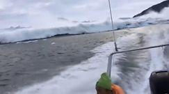 Podziwiali ogromny lodowiec. Po chwili zdarzyło się coś przerażającego
