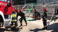 Zasłabł na budowie metra w Warszawie. Do akcji ruszyli strażacy