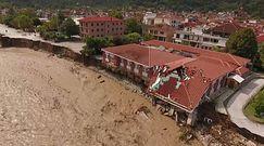 Woda pustoszy Grecję. Ogromna powódź w obiektywie kamery