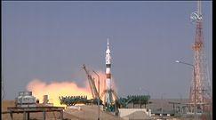 Astronauci już w drodze na stację ISS. Nagranie startu rakiety Sojuz MS-18 w Kazachstanie