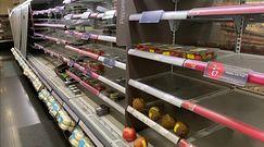 Puste półki w sklepach w Dublinie. Wszystkiemu winny Brexit