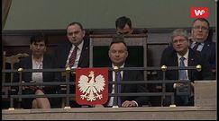 Małgorzata Kidawa-Błońska wykorzystała obecność Andrzeja Dudy w Sejmie. Przypomniała jedną rzecz
