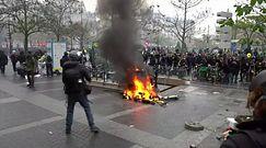 """Paryż znów płonie. """"Żółte kamizelki"""" wróciły na ulice"""