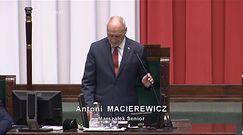 Pierwsze posiedzenie Sejmu. Antoni Macierewicz zaliczył wpadkę
