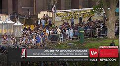 """Niesamowite obrazki z Argentyny po śmierci Diego Maradony. """"Ludzie chcą mu podziękować"""""""