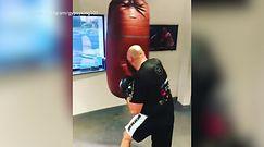 #dziejesiewsporcie: Tyson Fury trenował na worku i nagle... Powiało grozą!