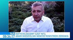 """Adam Niedzielski. Jakie zadania stoją przed nowym ministrem? """"Jesteśmy przed bardzo trudnym momentem"""""""