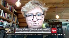 Prof. Magdalena Środa o LGBT: Kościół powinien otworzyć poradnie dla tych, którzy nienawidzą innych