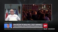 Białoruś. Lech Wałęsa: Przy tak nieodpowiedzialnej władzy protesty mogą zakończyć się rozlewem krwi