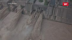 Powódź dociera do chińskiej tamy. Niesamowite wideo uchwycone dronem