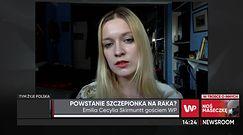 Emilia Skirmuntt o szczepionce Pfizera na raka płuc