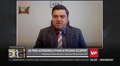 Andrusiewicz: 2200 niepożądanych odczynów poszczepiennych po AstraZenece w Polsce