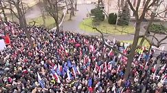 """""""Obywatele dla demokracji"""". Demonstracja przed Trybunałem Konstytucyjnym"""
