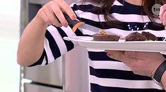 Czekoladowe ciastko z płynną czekoladą