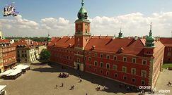 Zamek Królewski widziany z drona