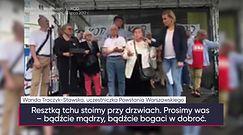 """Protest przed Sejmem. Przemówienie uczestniczki Powstania: """"Bądźcie mądrzy, walczcie, ale bez broni"""""""