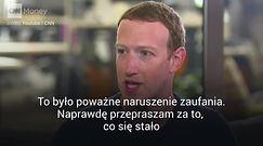 """Zuckerberg przeprosił wszystkich użytkowników. """"Jest mi naprawdę przykro"""""""