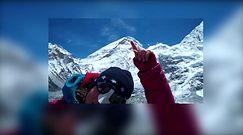 Miłka Raulin na filmiku pokazuje szczyty Everestu, Lhotse i Nuptse