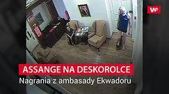 Co Assange robił w ambasadzie. Nagranie kamer ochrony