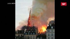 Moment upadku iglicy na Notre Dame