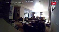 Usłyszeli hałas w kuchni. Później z przerażeniem oglądali monitoring