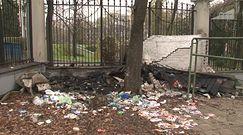 Zniszczenia po zamieszkach w Warszawie