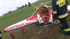 Samolot wylądował awaryjnie na polu. Zdjęcia z Brzózy