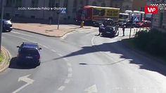 Groźne potrącenie w Olsztynie. Policja publikuje nagranie ku przestrodze